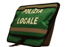 Borse laterali serigrafate Polizia Locale